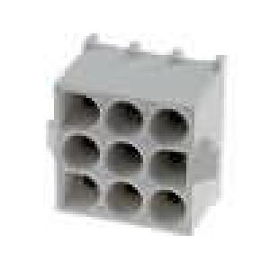 Zásuvka kabel-kabel/plošný spoj zásuvka 6,35mm 9 PIN 19A