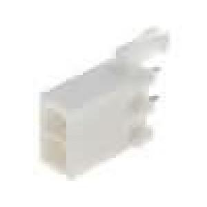 Zásuvka kabel-pl.spoj vidlice 4,14mm 2PIN pocínovaný THT