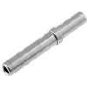 Kontakt zásuvka 0,5-1mm2 DT Rozměr:16 niklovaný krimpovací
