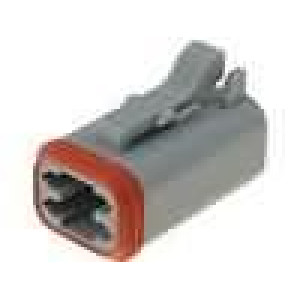 Konektor vodič-vodič AT zástrčka zásuvka 4 PIN na kabel