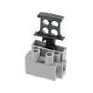 Svorkovnice póly:2 šroubová svorka 1x pojistka 0,5-2,5mm2