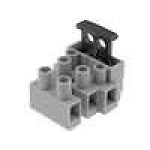 Svorkovnice 3 PIN šroubová svorka 1x pojistka 0,5-2,5mm2