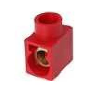 Svorkovnice póly:1 šroubová svorka červená 400V Mat polyamid