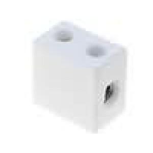 Svorkovnice póly:1 šroubová svorka 10mm2 450V Mat keramický