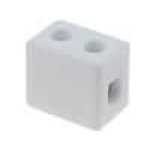 Svorkovnice póly:1 šroubová svorka 4mm2 450V Mat keramický