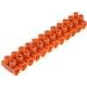 Svorkovnice 12PIN šroubová svorka 6-16mm2 oranžová
