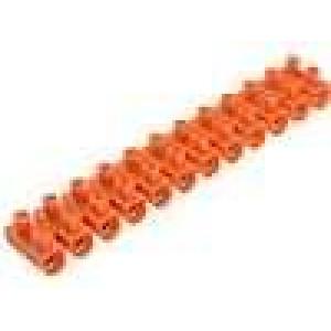 Svorkovnice 12PIN šroubová svorka 10-25mm2 oranžová
