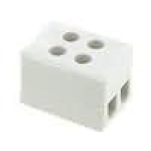 Svorkovnice póly:2 šroubová svorka 2,5mm2 24A 500V