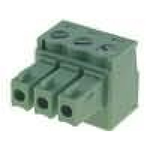 Rozpojovací svorkovnice zásuvka 0,5-1,5mm2 3,81mm 3 PIN 7A
