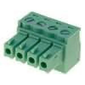 Rozpojovací svorkovnice zásuvka 0,5-1,5mm2 3,81mm póly:4 7A