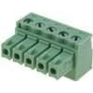 Rozpojovací svorkovnice zásuvka 0,5-1,5mm2 3,81mm póly:5 7A