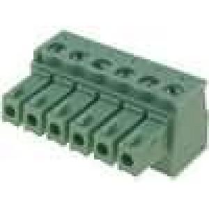 Rozpojovací svorkovnice zásuvka 0,5-1,5mm2 3,81mm póly:6 7A