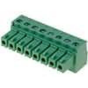 Rozpojovací svorkovnice zásuvka 0,5-1,5mm2 3,81mm póly:8 7A