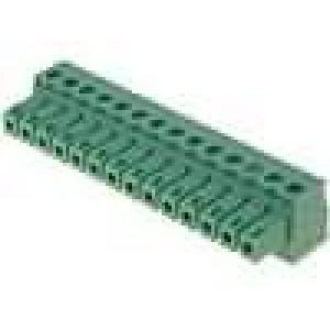 Rozpojovací svorkovnice zásuvka 0,5-1,5mm2 3,81mm póly:14 7A