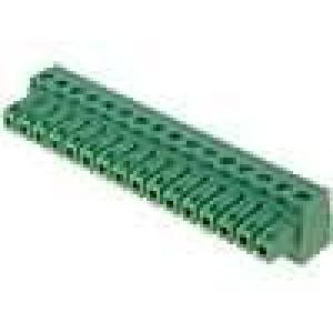 Rozpojovací svorkovnice zásuvka 0,5-1,5mm2 3,81mm póly:16 7A