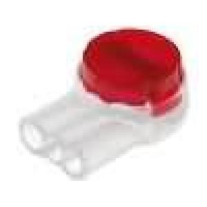 Svorka Scotchlok IDC červená Verze koncová, s těsnícím gelem