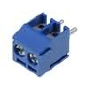 Svorkovnice úhlové 90° 0,12-0,9mm2 3,5mm póly:2 7A modrá