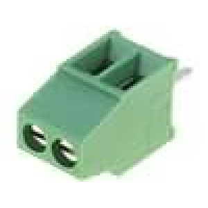 Svorkovnice úhlové 90° 0,03-1mm2 2,54mm póly:2 10A 150V