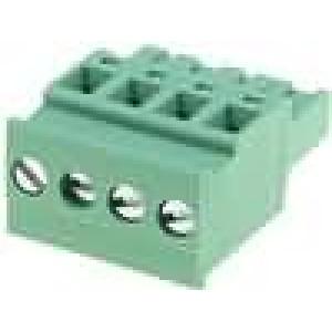 Rozpojovací svorkovnice zástrčka zásuvka úhlový 5mm na kabel