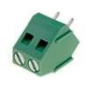 Svorkovnice úhlové 45° 5mm THT, pero/drážka póly:2 24A 250V