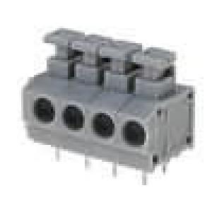 Svorkovnice s tlačítkem úhlové 90° 1,5mm2 póly:4 pocínovaný