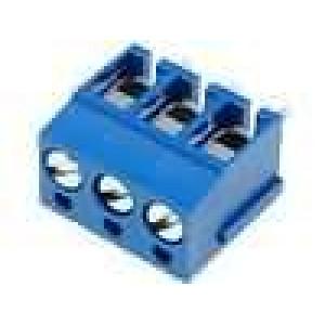 Svorkovnice úhlové 90° 2,5mm2 5mm 3 PIN pocínovaný 24A 300V