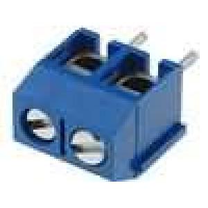 Svorkovnice úhlový 5mm THT póly:2 17,5A modrá 250V