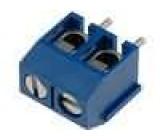 Svorkovnice úhlové 90° 1,5mm2 5mm póly:2 pocínovaný 15A 300V