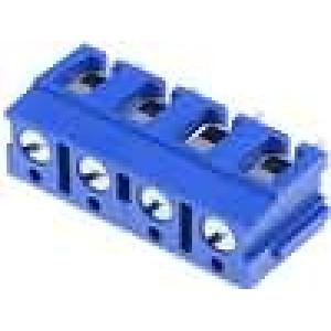 Svorkovnice s ochranou vodiče úhlový 2,5mm2 7,5mm THT póly:4