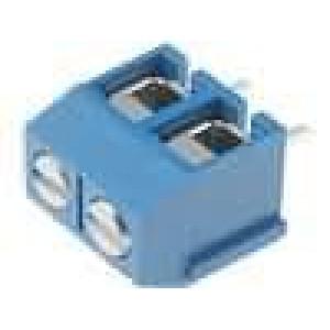 Svorkovnice úhlové 90° 2,5mm2 5mm póly:2 pocínovaný 15A 300V