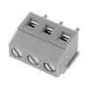 Svorkovnice úhlové 90° 1,5mm2 3,81mm 3 PIN pocínovaný 10A