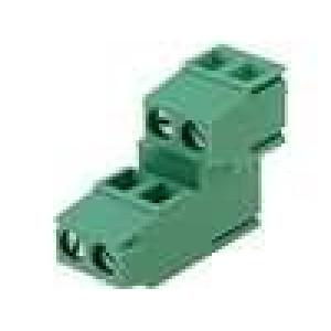 Svorkovnice patrové úhlové 90° 2,5mm2 5mm póly:4 pocínovaný