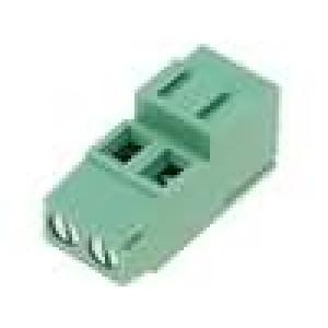Svorkovnice úhlové 90° 2,5mm2 5,08mm póly:2 24A 250V