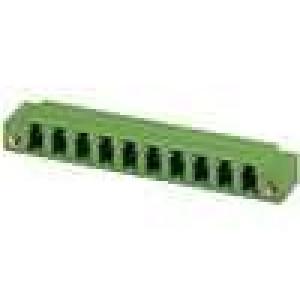 Rozpojovací svorkovnice zásuvka úhlový 5,08mm THT póly:2 8A