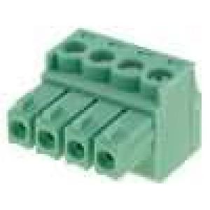 Rozpojovací svorkovnice zástrčka zásuvka 3,5mm póly:4 8A