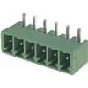 Rozpojovací svorkovnice zásuvka vidlice 3,81mm THT póly:6 8A