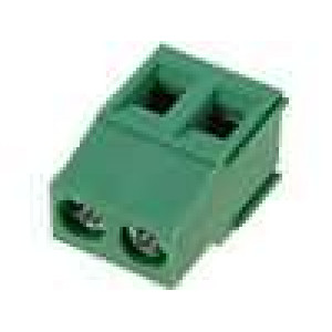 Svorkovnice úhlové 90° 0,2-2,5mm2 5,08mm póly:2 16A 400V