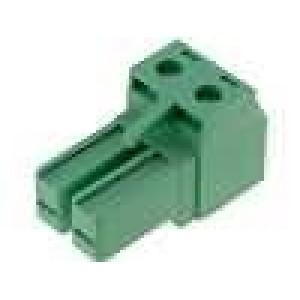 Svorkovnice zástrčka zásuvka přímý 7,62mm póly:2 20A 300V