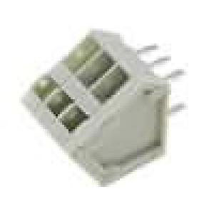 Svorkovnice úhlové 45° 0,5mm2 2,5mm 3 PIN 9A písková 130V