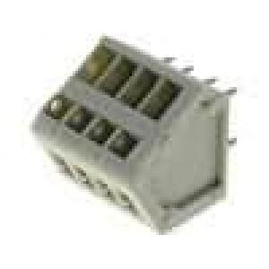 Svorkovnice úhlové 45° 0,5mm2 2,5mm póly:4 9A písková 130V