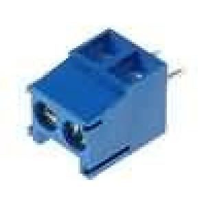 Svorkovnice úhlový 1mm2 3,5mm póly:2 12A UL94V-0 modrá 300V