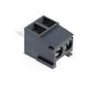 Svorkovnice úhlový 1mm2 3,5mm póly:2 12A UL94V-0 šedá 300V
