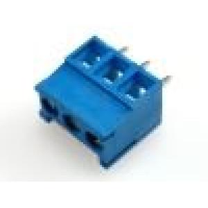 Svorkovnice úhlový 1mm2 3,5mm 3 PIN 12A UL94V-0 modrá 300V