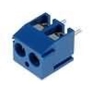 Svorkovnice úhlové 90° 0,5mm2 3,81mm póly:2 pocínovaný 10A