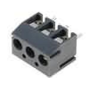 Svorkovnice úhlové 90° 0,5mm2 3,81mm 3 PIN pocínovaný 10A