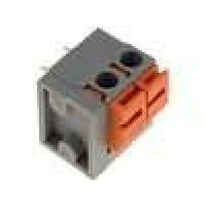Svorkovnice s páčkou úhlové 90° 0,5mm2 5,08mm póly:2 10A