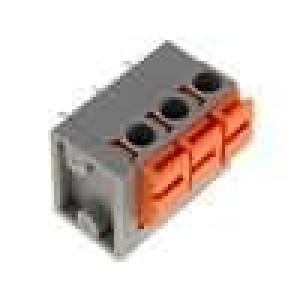 Svorkovnice s páčkou úhlové 90° 0,5mm2 5,08mm 3 PIN 10A
