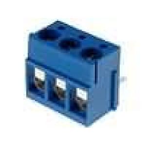 Svorkovnice přímý 2,5mm2 5mm 3 PIN 16A modrá 250V H:9mm
