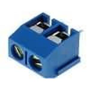 Svorkovnice přímý 2,5mm2 póly:2 16A modrá Kontakty mosaz