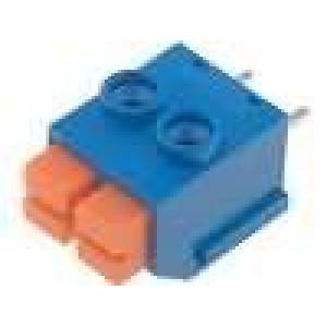 Svorkovnice s tlačítkem úhlové 90° 5mm póly:2 8A 16-22AWG
